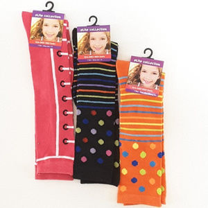 Elite Collection by B2 Fashions Accessories - *GIRLS* ELITE COLLECTION 3 pair of Knee High Socks